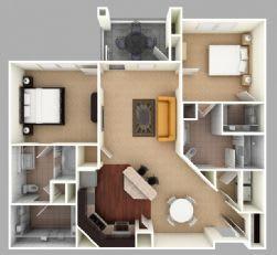 Floor Plan  Wessinger: Beds-2: Baths-2: Sq Ft Range - 1148-1148