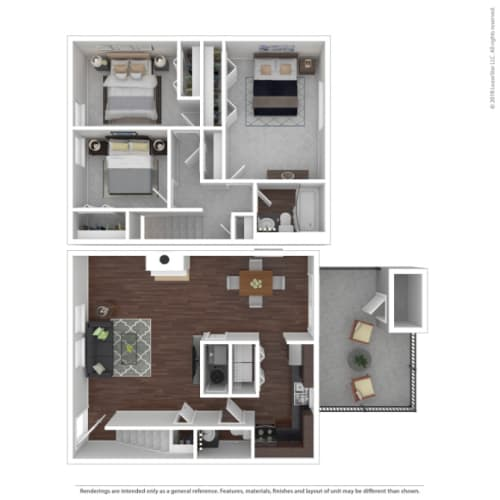 Floor Plan  Woodbridge Apartments Pine Floor Plan