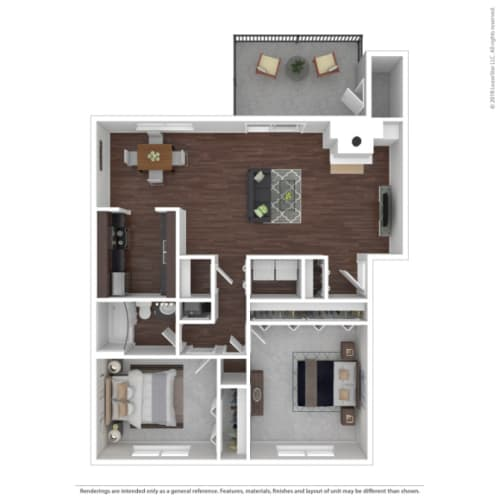 Floor Plan  Woodbridge Apartments Mahogany Floor Plan