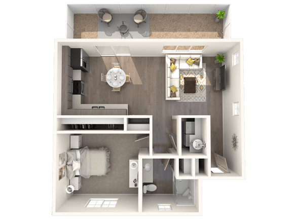 Floor Plan  TG Plan 1 at Parke Place Apartments, P.B. BELL, Prescott Valley, AZ