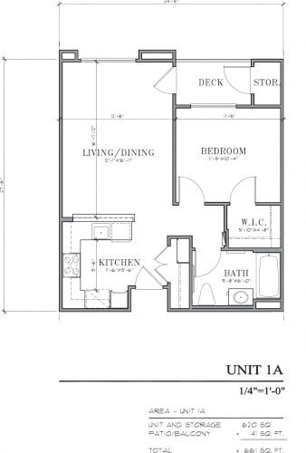 Floor Plan  1A floorplan