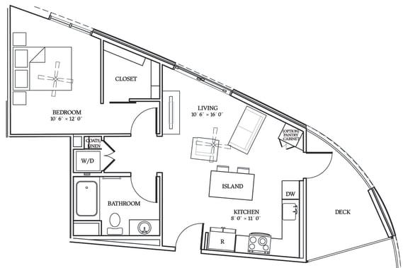 Floor Plan  Aliso A01 656 SF