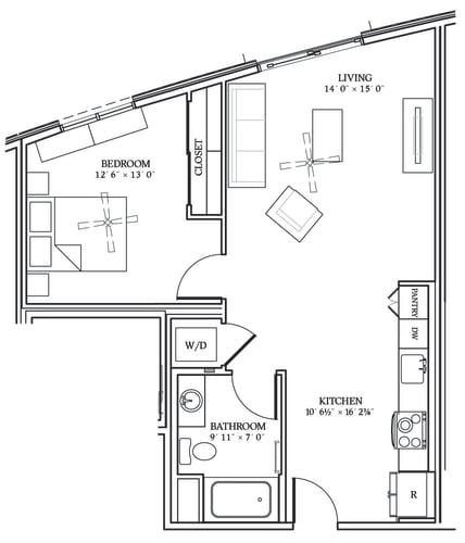 Floor Plan  Aliso A05 721 SF