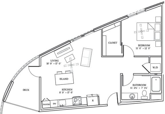 Floor Plan  Aliso A06 744 SF