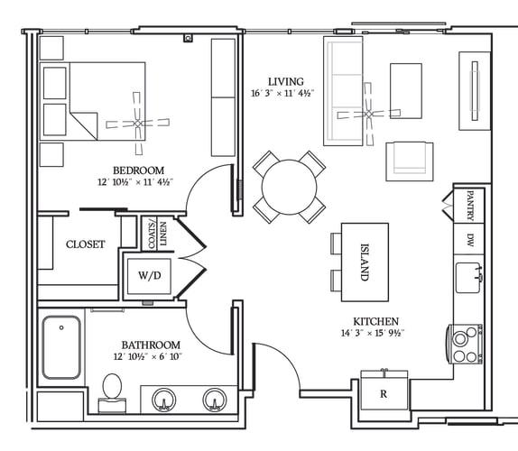 Floor Plan  Aliso A07 754 SF