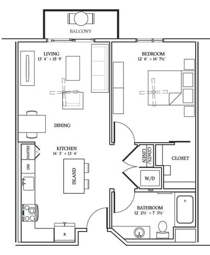 Floor Plan  Aliso A08 780 SF