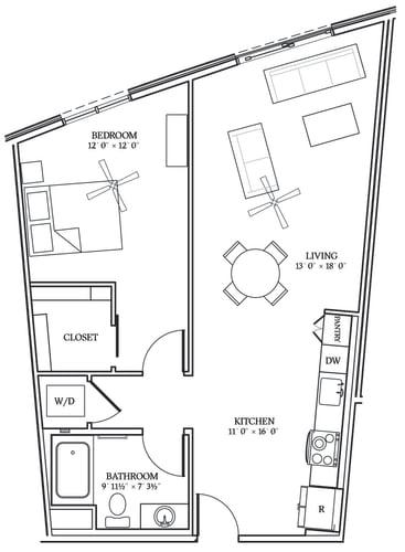 Floor Plan  Aliso A09 826 SF