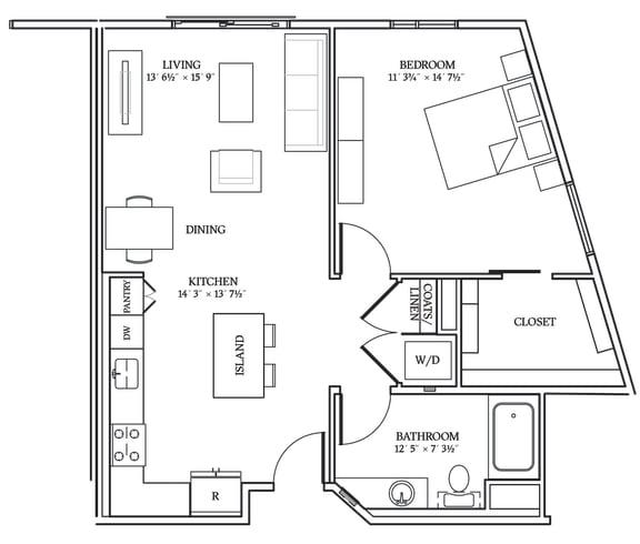 Floor Plan  Aliso A10 833 SF