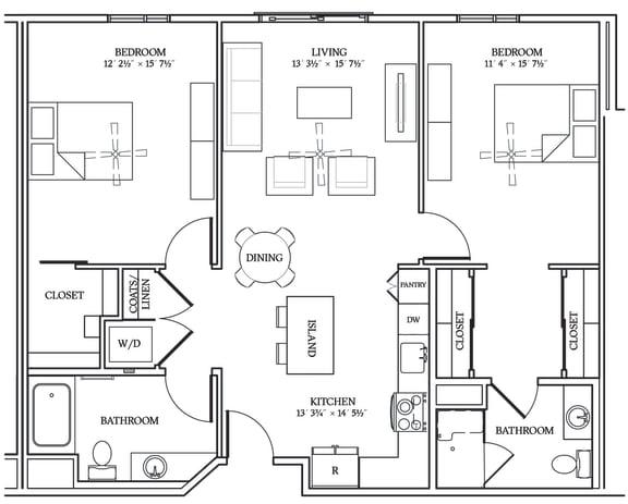 Floor Plan  Aliso B01 1109 SF