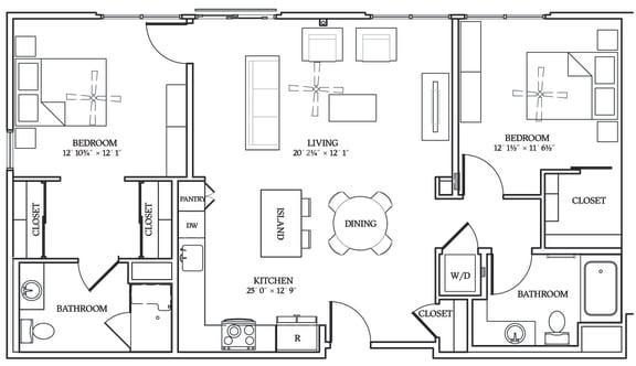 Floor Plan  Aliso B02 1176 SF