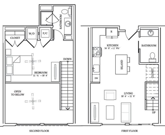 Floor Plan  Aliso L01 791 SF