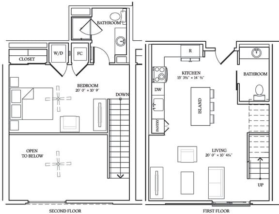 Floor Plan  Aliso L03 858 SF