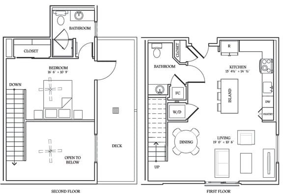 Floor Plan  Aliso L04 889 SF