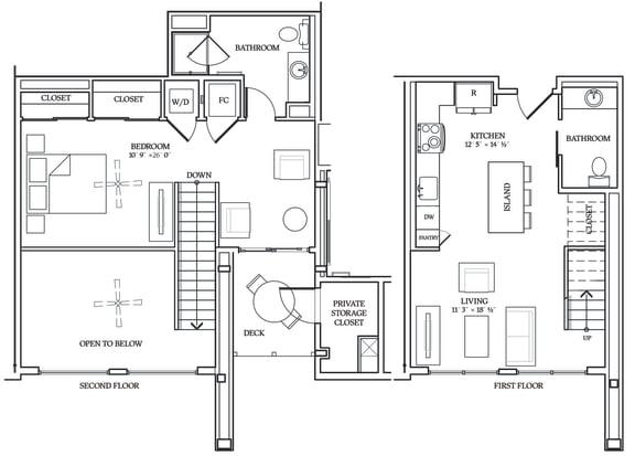 Floor Plan  Aliso L05 905 SF