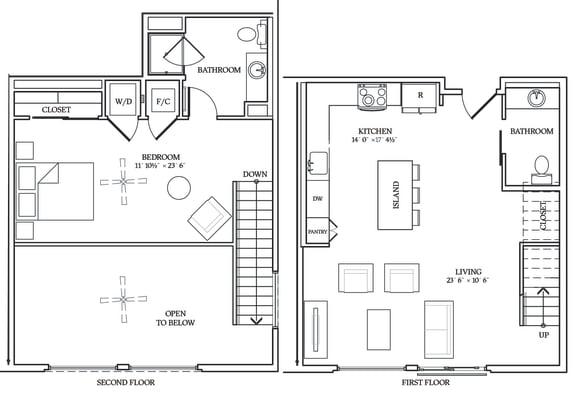 Floor Plan  Aliso L07 966 SF
