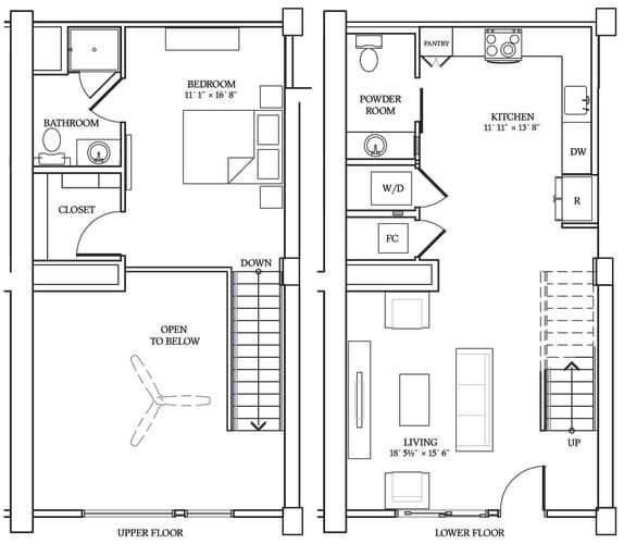 Floor Plan  Aliso LW1 882 SF