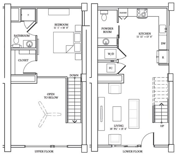 Floor Plan  Aliso LW2 884 SF
