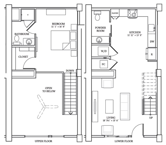 Floor Plan  Aliso LW3 922 SF