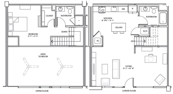 Floor Plan  Aliso LW5 1157 SF