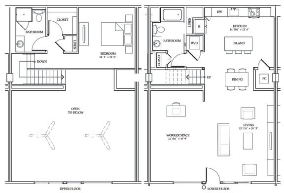 Floor Plan  Aliso LW8 1414 SF