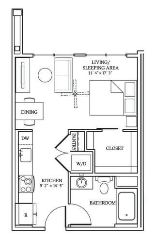 Floor Plan  Aliso S02 454 SF