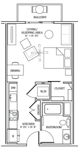 Floor Plan  Aliso S04 493 SF