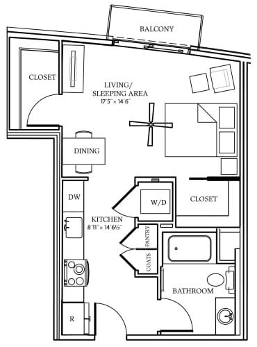 Floor Plan  Aliso S06 526 SF