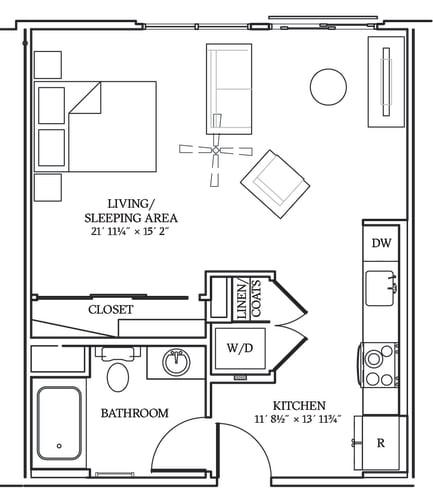 Floor Plan  Aliso S08 564 SF