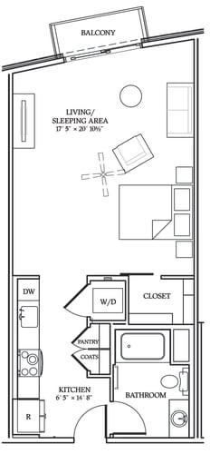 Floor Plan  Aliso S09 625 SF