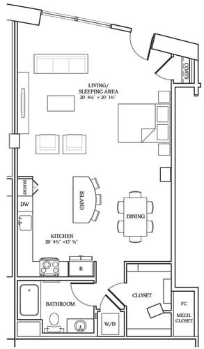 Floor Plan  Aliso S10 893 SF