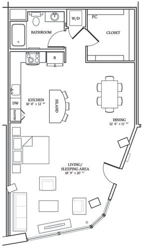 Floor Plan  Aliso S11 916 SF