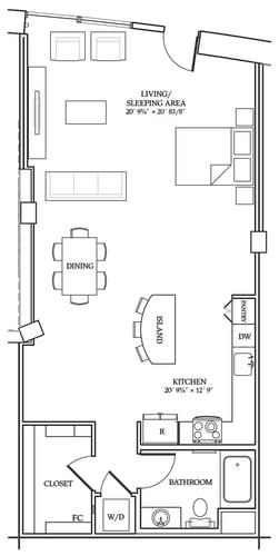Floor Plan  Aliso S12 927 SF
