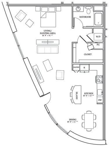 Floor Plan  Aliso S13 1076 SF