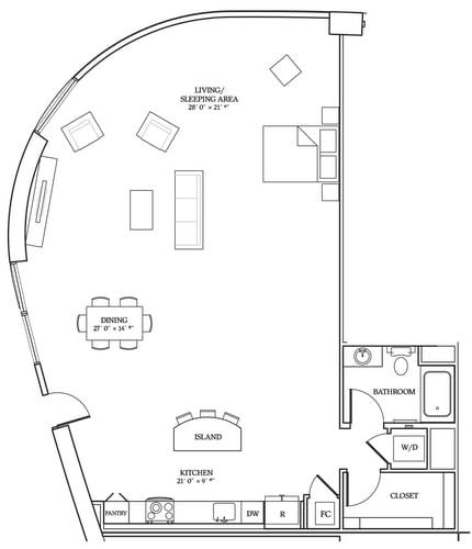 Floor Plan  Aliso S14 1422 SF