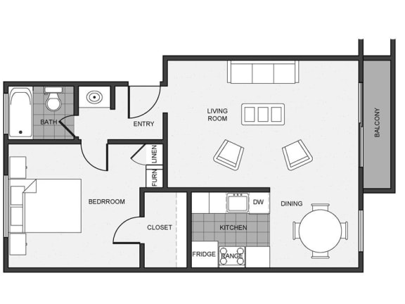 Floor Plan  Mitchell Arms 1 bedroom 1 bathroom
