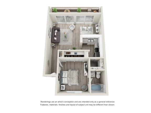 Floor Plan  1Bedroom 1Bathroom