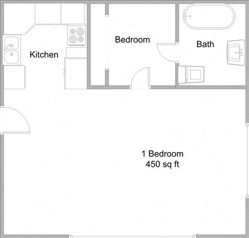 Floor Plan  Junior One Bedroom One Bath