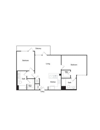 Floor Plan  PicassoBrentwoodFP_B3_2b2b_1089sf