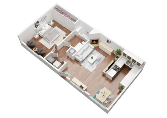 Floor Plan  1 bedroom Willow  Floorplan