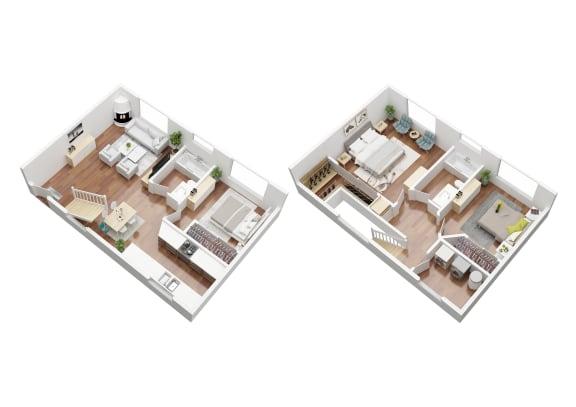 Floor Plan  G 3 Bedroom Townhouse Elm (60-3t)_3D.jpg