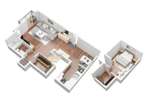 Floor Plan  Corsica Loft  Floorplan Oxnard Terrace