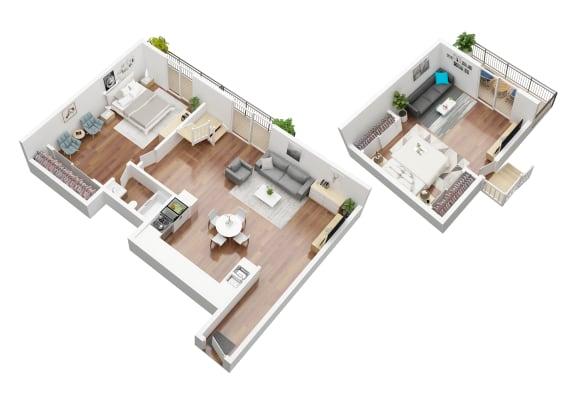 Floor Plan  Sardina Loft Floorplan Oxnard Terrace