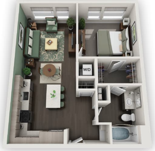 Floor Plan  1X1 A3 available at Fusion 355 in Broomfield, CO