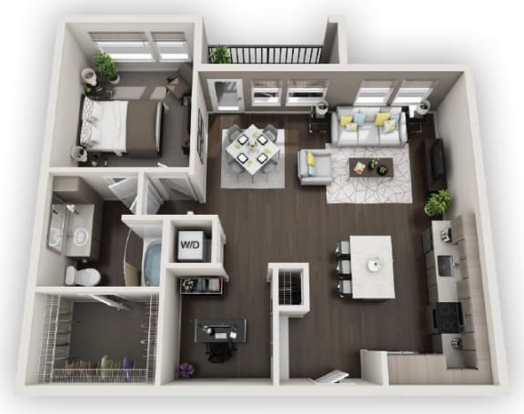 Floor Plan  1X1 A5 available at Fusion 355 in Broomfield, CO
