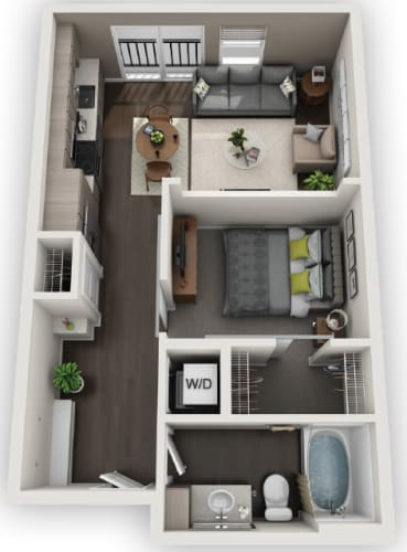 Floor Plan  Studios S2 available at Fusion 355 in Broomfield, CO