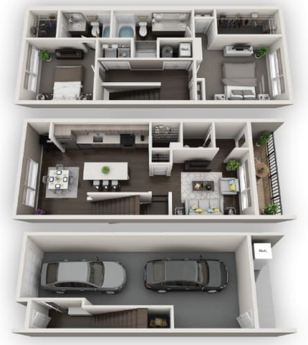 Floor Plan  Townhome TH1 available at Fusion 355 in Broomfield, CO