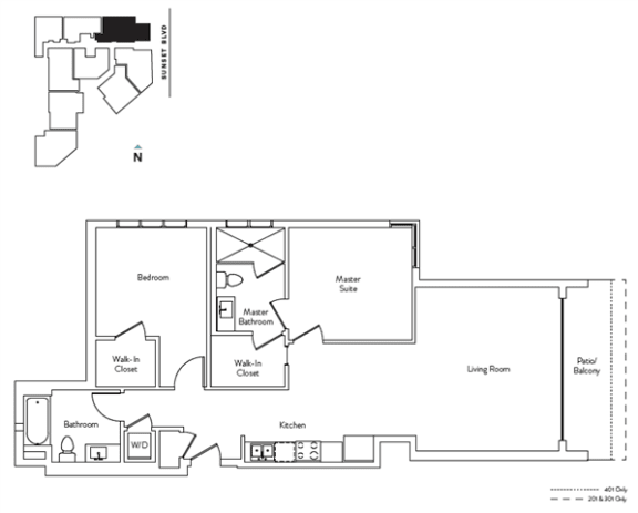 Floor Plan  2 Bed 2 Bath 1041 square feet floor plan Residence I