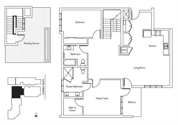 Floor Plan  2 Bed 2 Bath 1428 square feet floor plan Residence L
