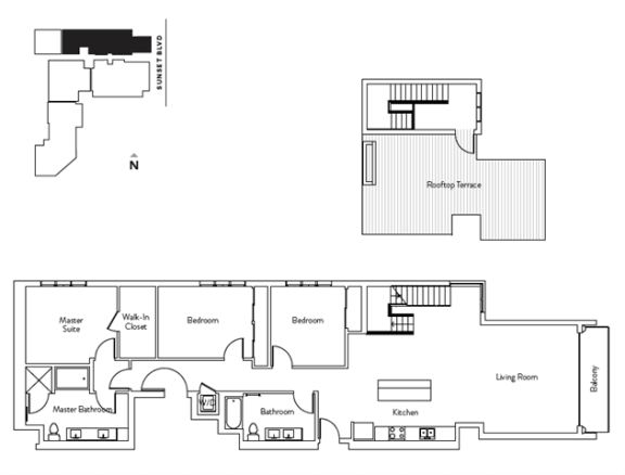 Floor Plan  3 Bed 2 Bath 1769 square feet floor plan Residence N
