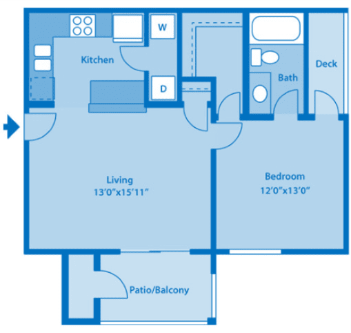 Floor Plan  Sundown Village 1B Floor Plan image depicting floor plan layout.